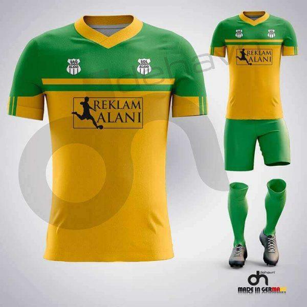 Asist Sarı-Yeşil Dijital Halı Saha Forma